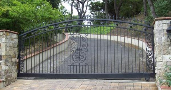 Image Result For Motorized Single Swing Driveway Gate Eyebrow Shape Custom Gates Driveway Gate Gate Design