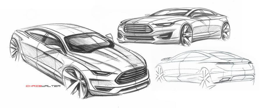 Car Design 2017 Ford Fusion Energi Mondeo Drawing Sketches Drawings Sketching
