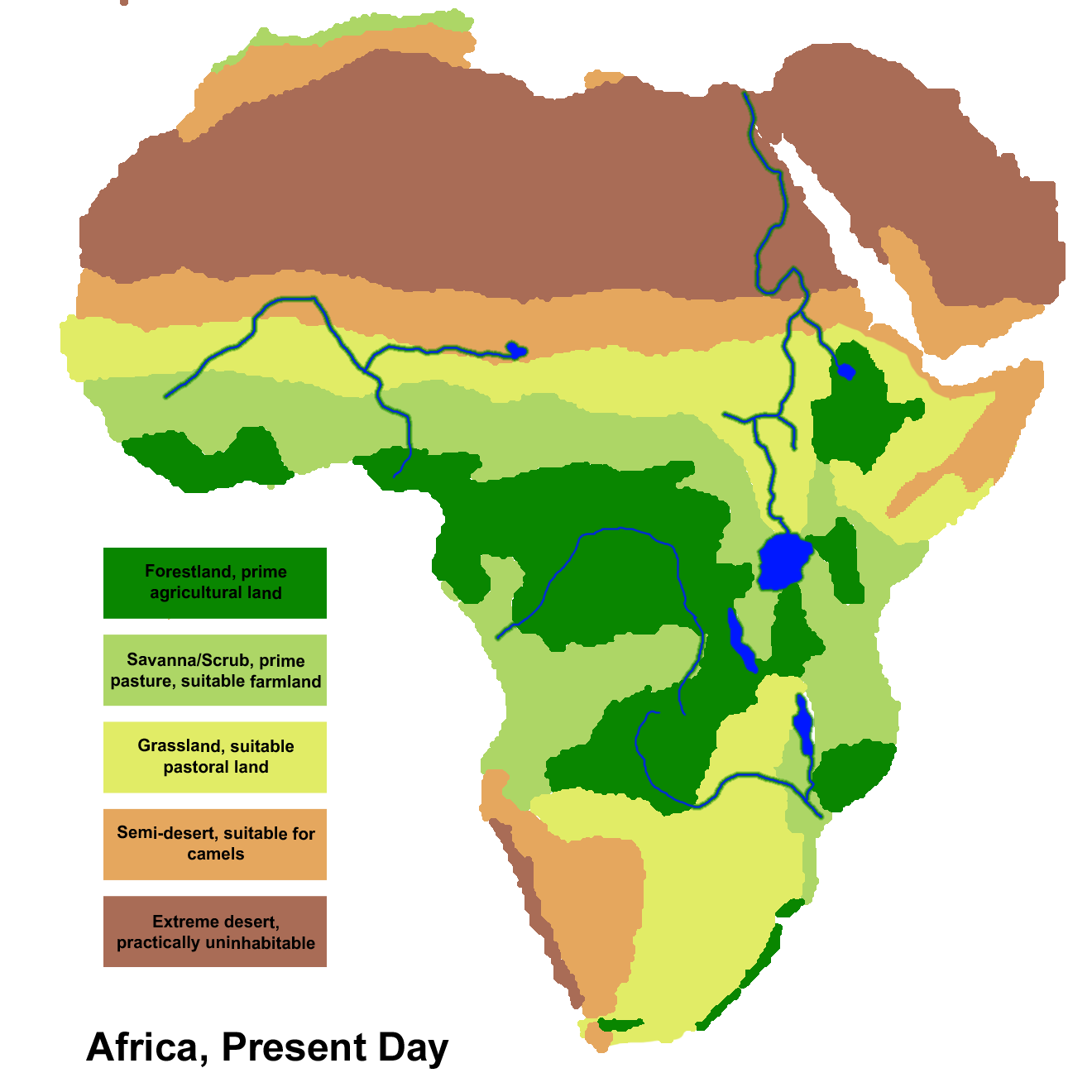 map of african savannah   Buscar con Google | Sabana africana