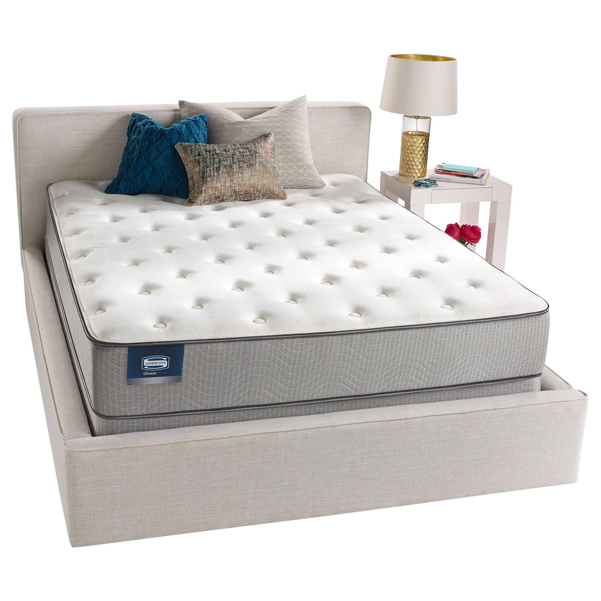 simmons beautysleep mount baker firm full size mattress white
