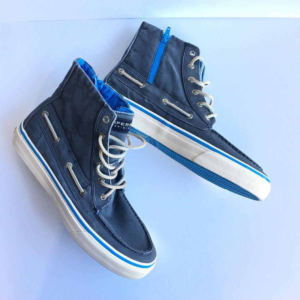 Blue Canvas Leather Laces