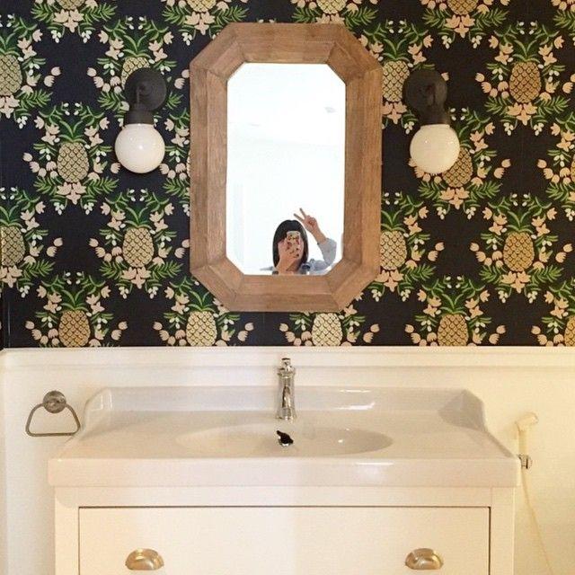 Pineapple Ebony Bathroom Pineappleselfie Via Dientb Bathroom Remodel Designs Modern Bathroom Remodel Simple