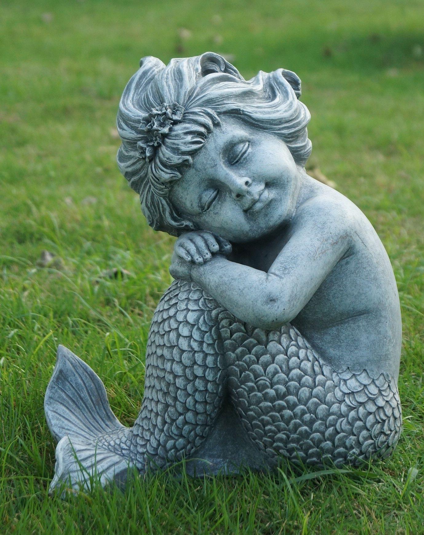 Bon Mermaid Sitting Statue