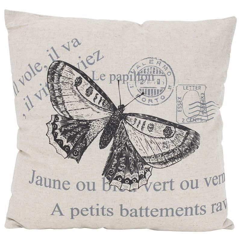 Beautiful Fabric cushion with butterfly theme www.inart.com