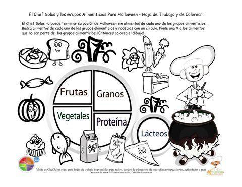 Dibujos para colorear alimentacion saludable - Imagui   Imprimibles ...