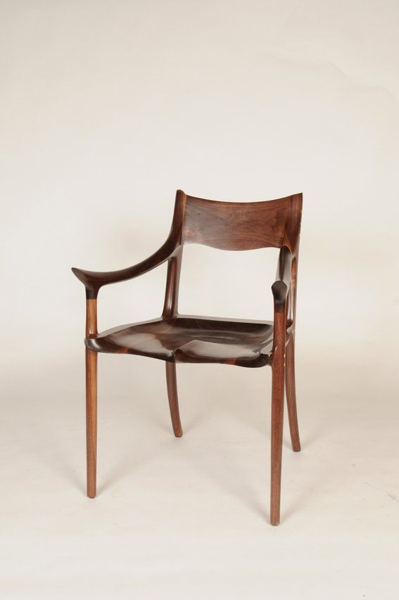A Maloof Inspired Walnut Chair With Maple Plugs. Amal And Shem McNew    MCFINN Designs
