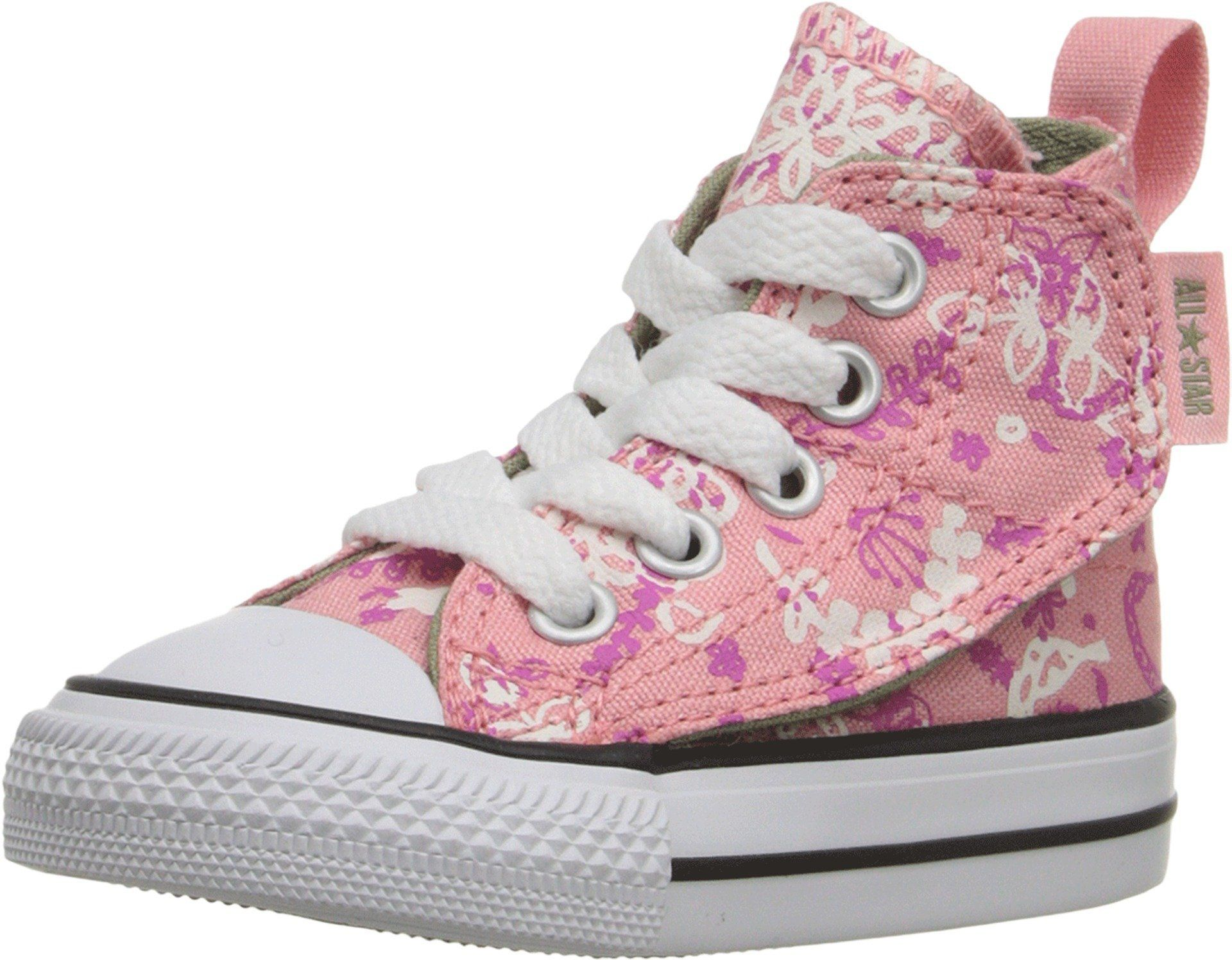 9f5c7178e925 Converse Kids Baby Girl s Chuck Taylor All Star Simple Step (Infant Toddler)  Daybreak Pink Plastic Pink Street Sage 3 Infant M
