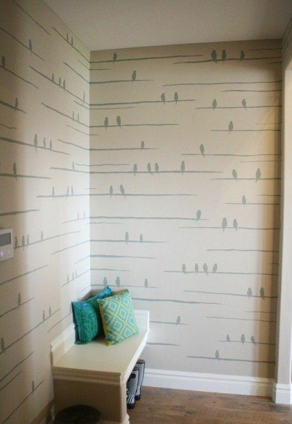 Streichideen Wände farben muster stuhl