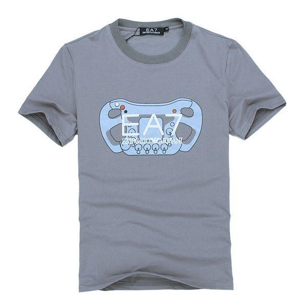 ralph lauren outlet EA7 Emporio Armani Gamepad Print Logo Short Sleeve Men's T-Shirt Grey http://www.poloshirtoutlet.us/