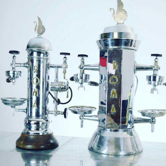 vintage espresso machines roma percolateur pinterest. Black Bedroom Furniture Sets. Home Design Ideas