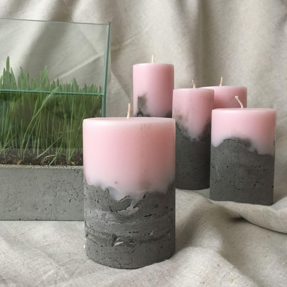 свечи бетон воск