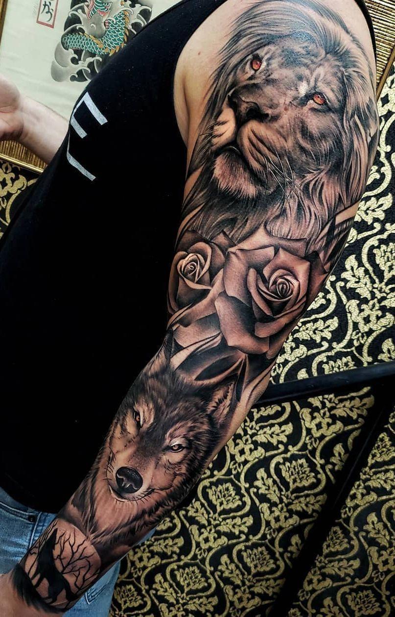 Beautiful Lion Tattoo Ideas C Tattoo Artist Boby Tattoo Sleevetattoos Nature Tattoo Sleeve Lion Head Tattoos Animal Sleeve Tattoo