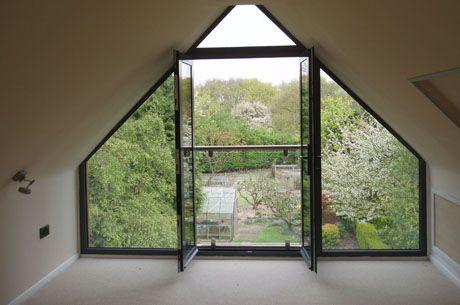 Best Glass In Gable End Dachausbau Schlafzimmer Giebelfenster 400 x 300