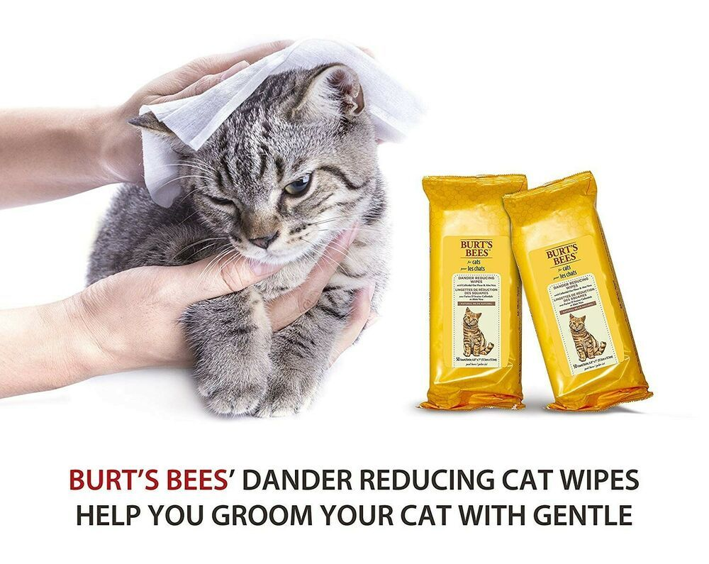 ONE Burt's Bees For Cats Natural Dander Reducing Wipes