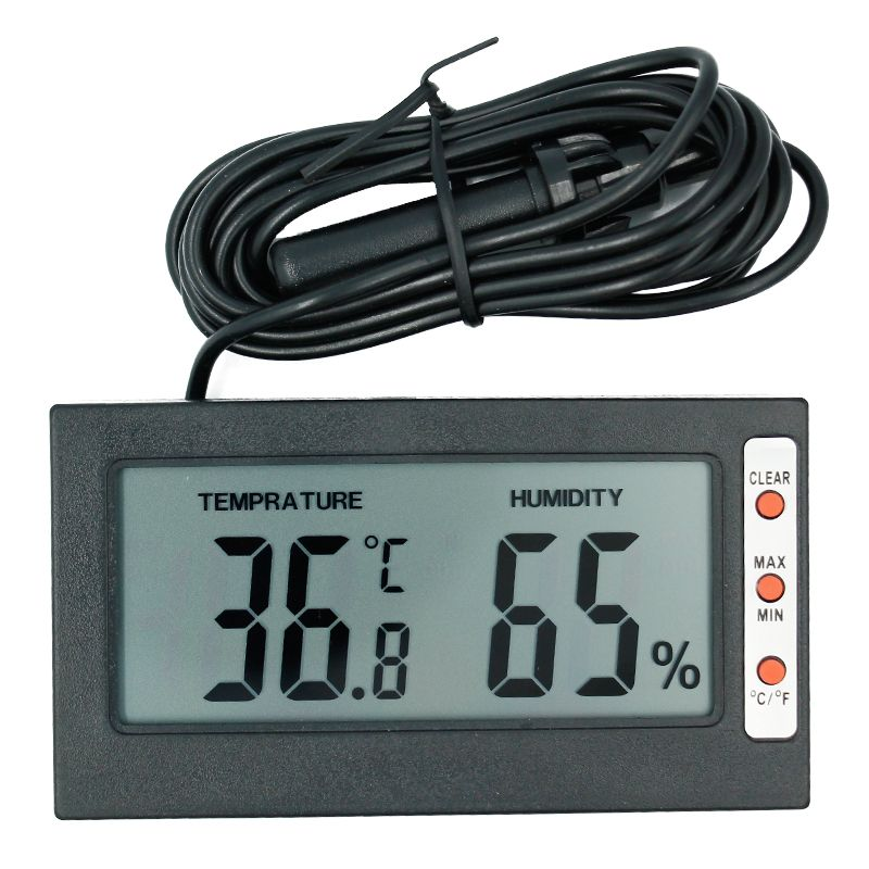 Professional Mini Probe Digital Lcd Thermometer Hygrometer Humidity Temperature Meter Indoor Digital Lcd Display Black To Suit The PeopleS Convenience Integrated Circuits