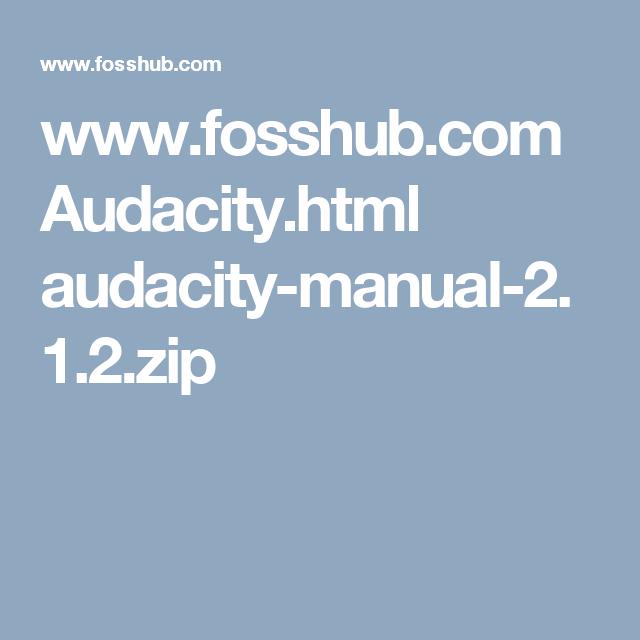 audacity free download 2.1.2