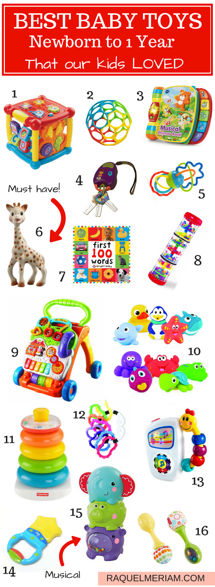 1 year baby toys images  Best Baby Toys Newborn to  Year  Baby Ideas  Pinterest  Baby