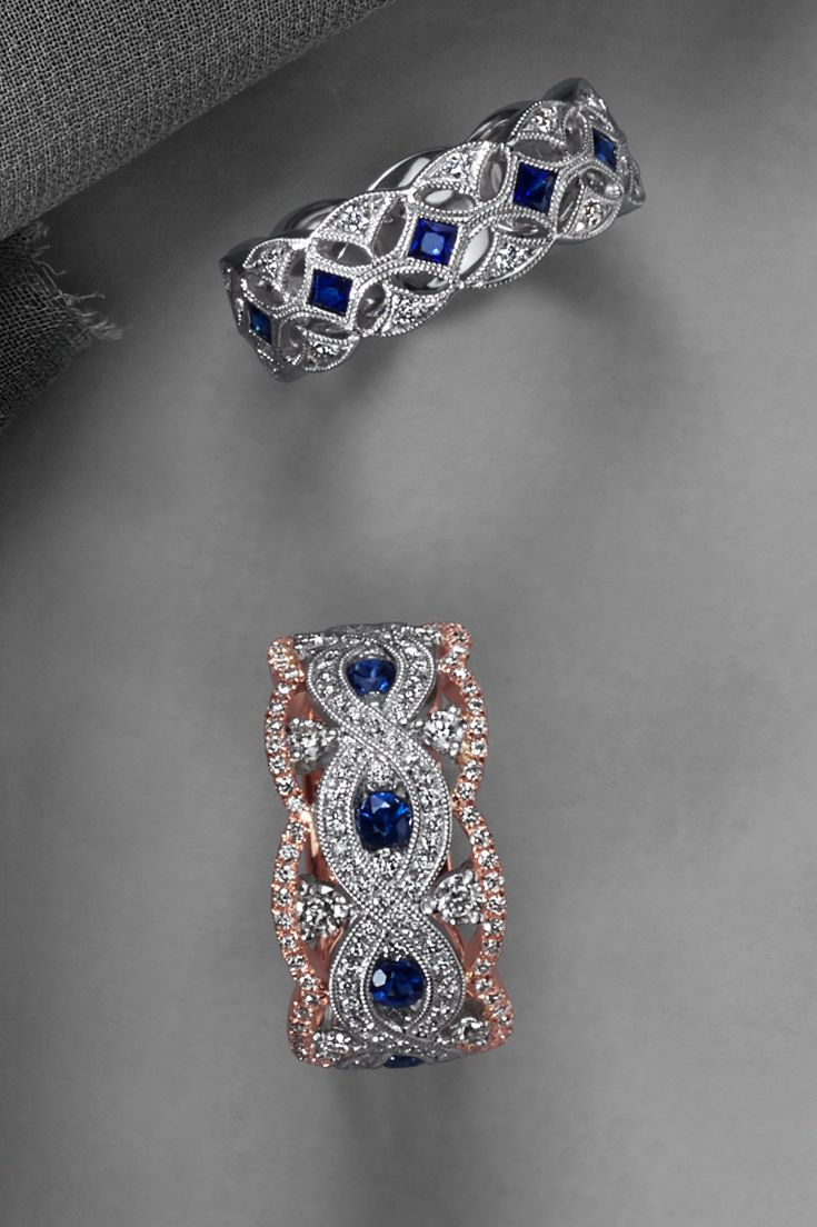 0e2098310efc The timeless look of traditional blue sapphires is elegant and  sophisticated. This gorgeous vintage-