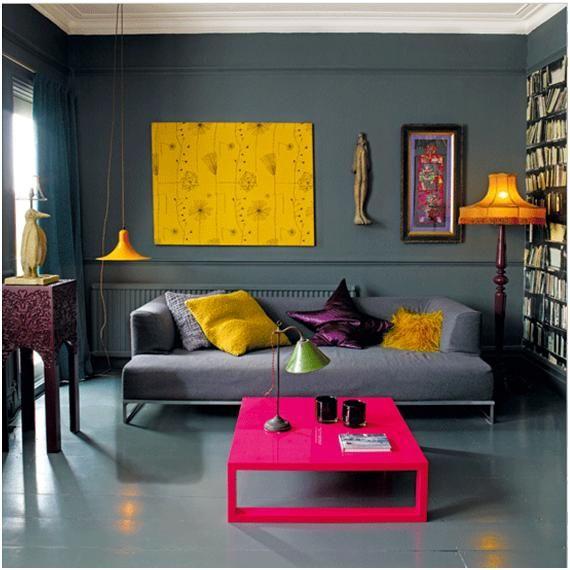 Sala gris living de color gris o plomo gray living salas for Decoracion de salas en gris y amarillo
