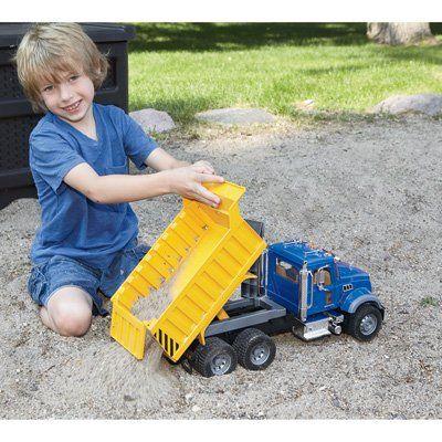 Bruder Mack Granite Dump Truck 1 16 Scale Model 12815 Misc Dump Truck Mack Toy Car