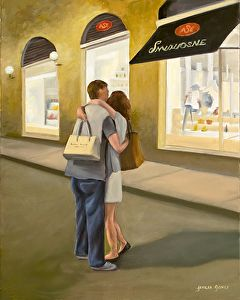Amore - Florence, Italy by Teresa Jones Oil On Canvas ~ 20 x 16