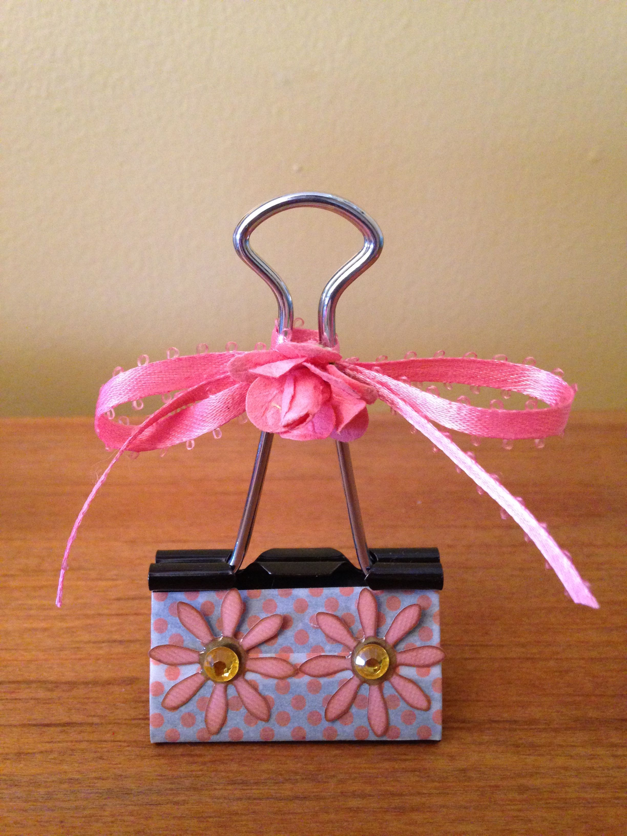 Pin by Frannie on Binder Clips Crafts, Paper clips diy