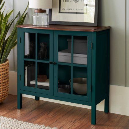 10 Spring Street Hinsdale 2 Door Cabinet Multiple Colors Accent Cabinet Decor Glass Cabinet Doors Furniture Makeover