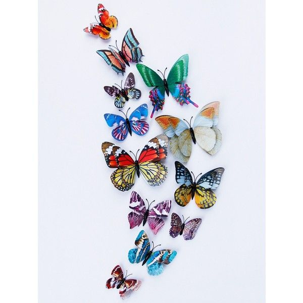 Home Decoration Double Layer Luminous 3D Butterfly Wall Stickers ($3.71) ❤  Liked On Polyvore Featuring Home, Home Decor, Wall Art, Butterfly Home Du2026