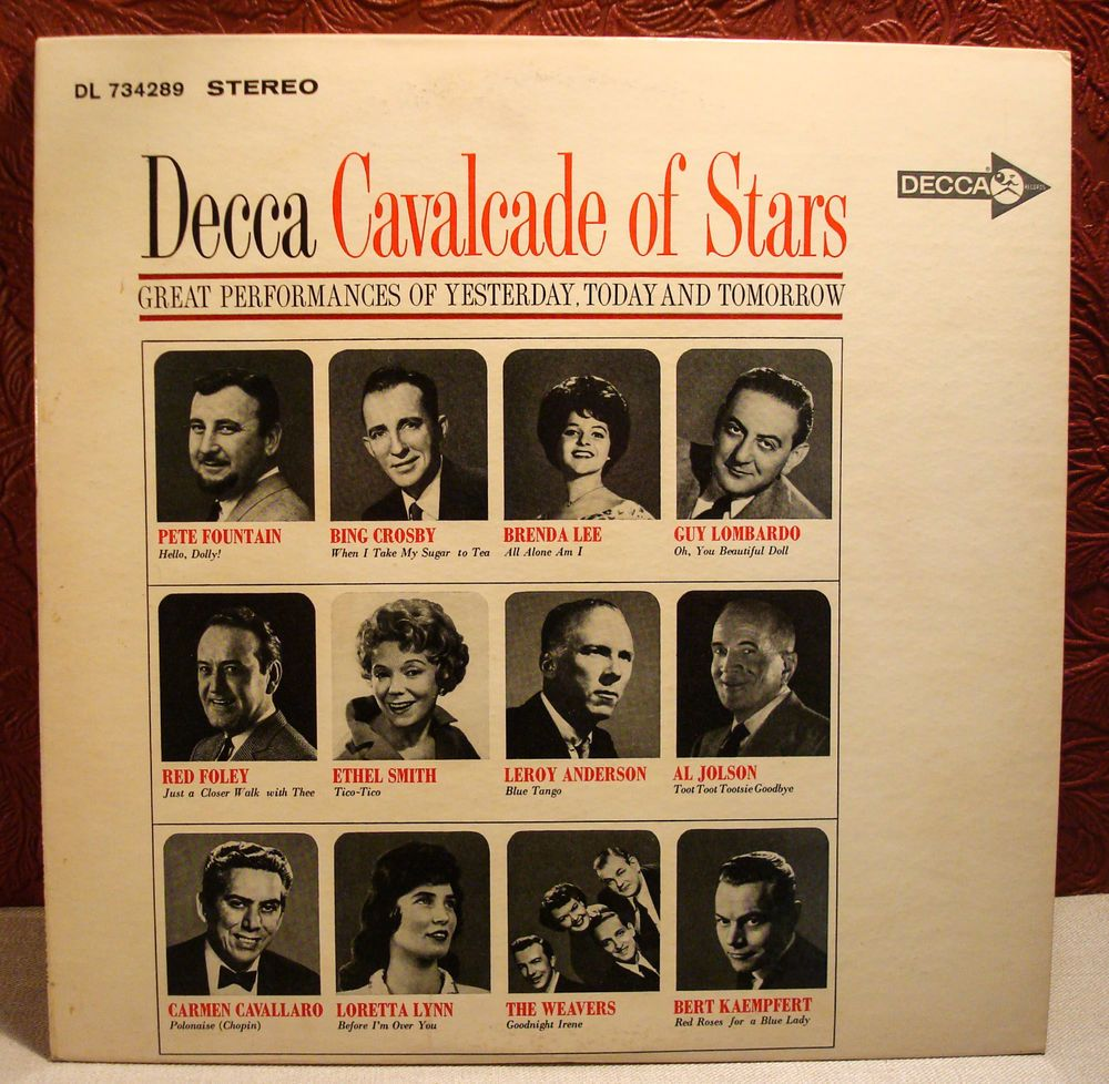 7fb6698e800 DECCA Cavalcade of Stars DL 734289 Vinyl LP 1962  1950s