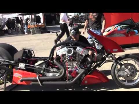 Exploding Top Fuel Nitro Harleys In Las Vegas Harley Drag Bike