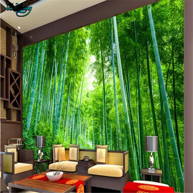 beibehang Custom non woven wallpaper wall murals bamboo jungle