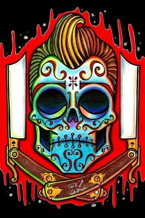 Graphic Mexican Skull  e0f6c3ff990