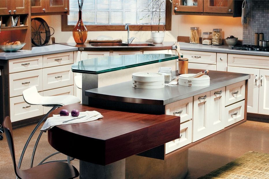 Providence | Floating kitchen island, Cabinet inspiration ...