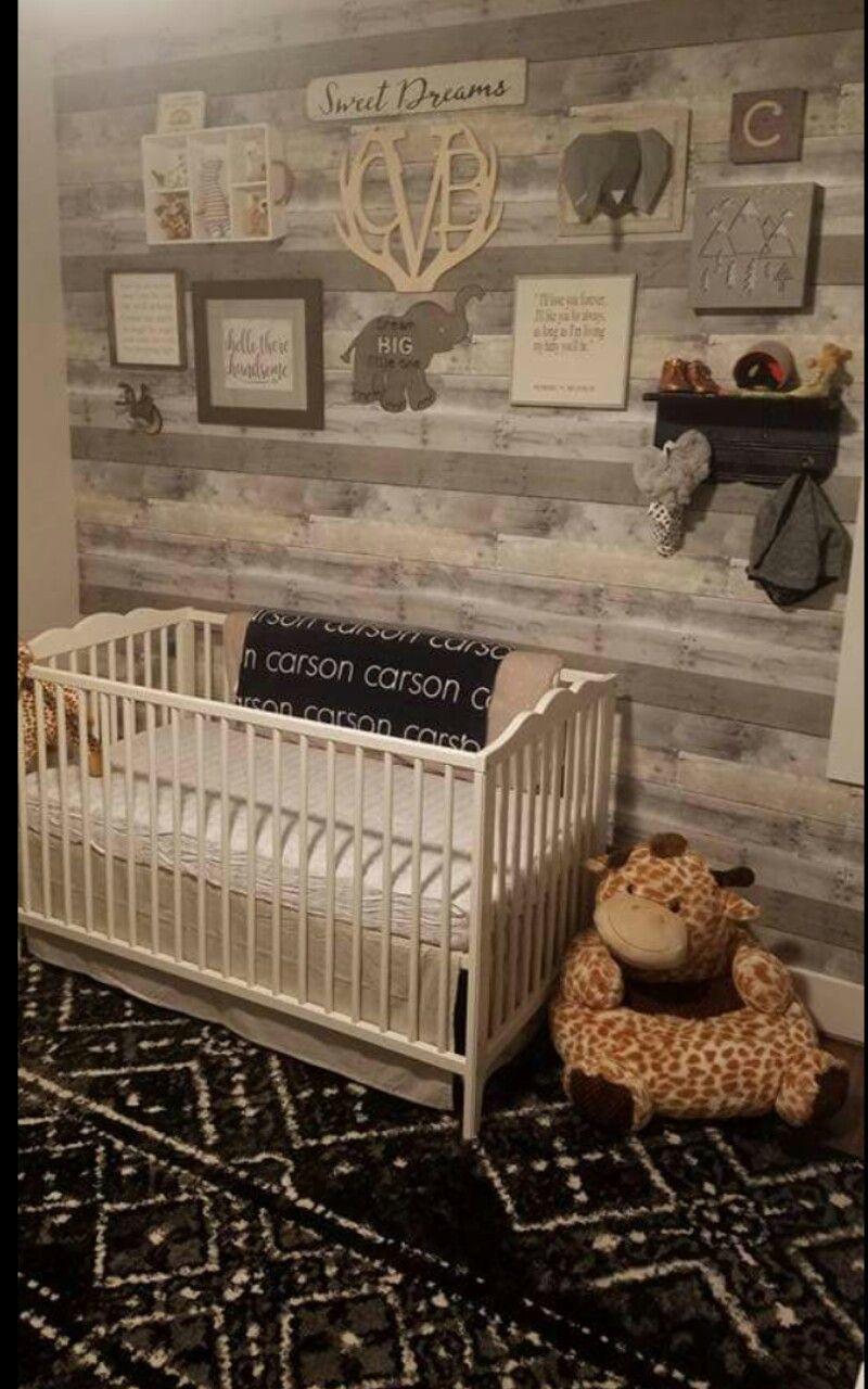 Rustic Safari Nursery Baby Boy Room