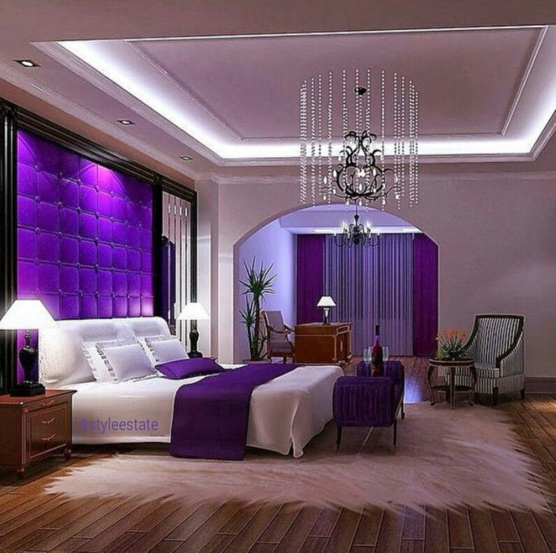 3 Would Love A Purple Accent Wall Purple Master Bedroom