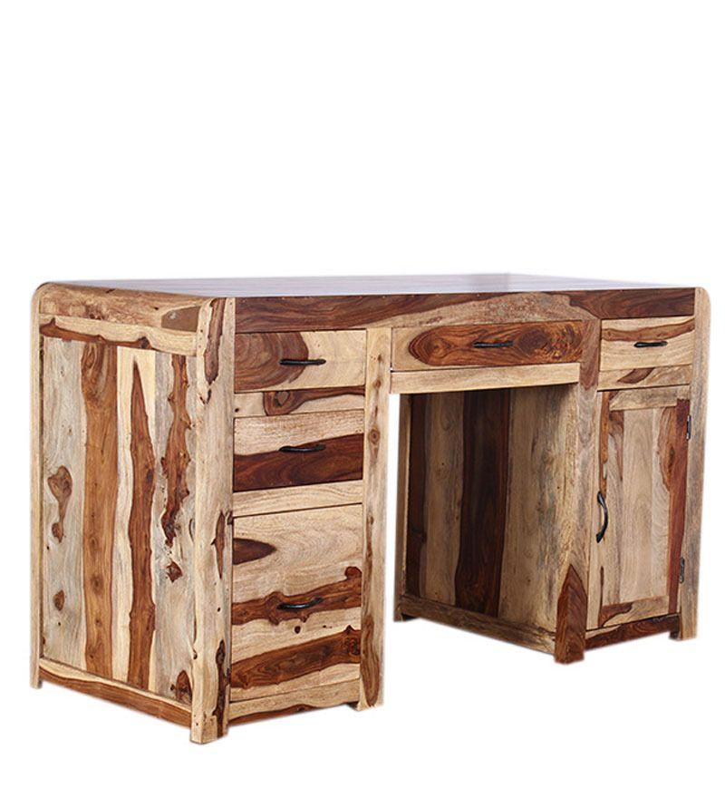 Scrivania etnica porta computer legno massello acacia SD-112276 x ...
