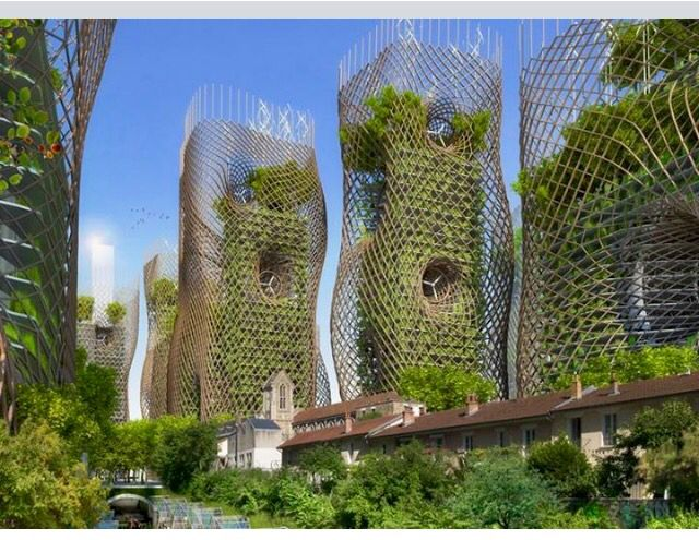 Conceptual view of energy efficient Paris