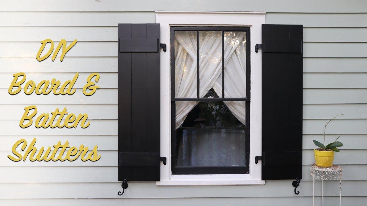 Diy board batten shutters board and batten shutters