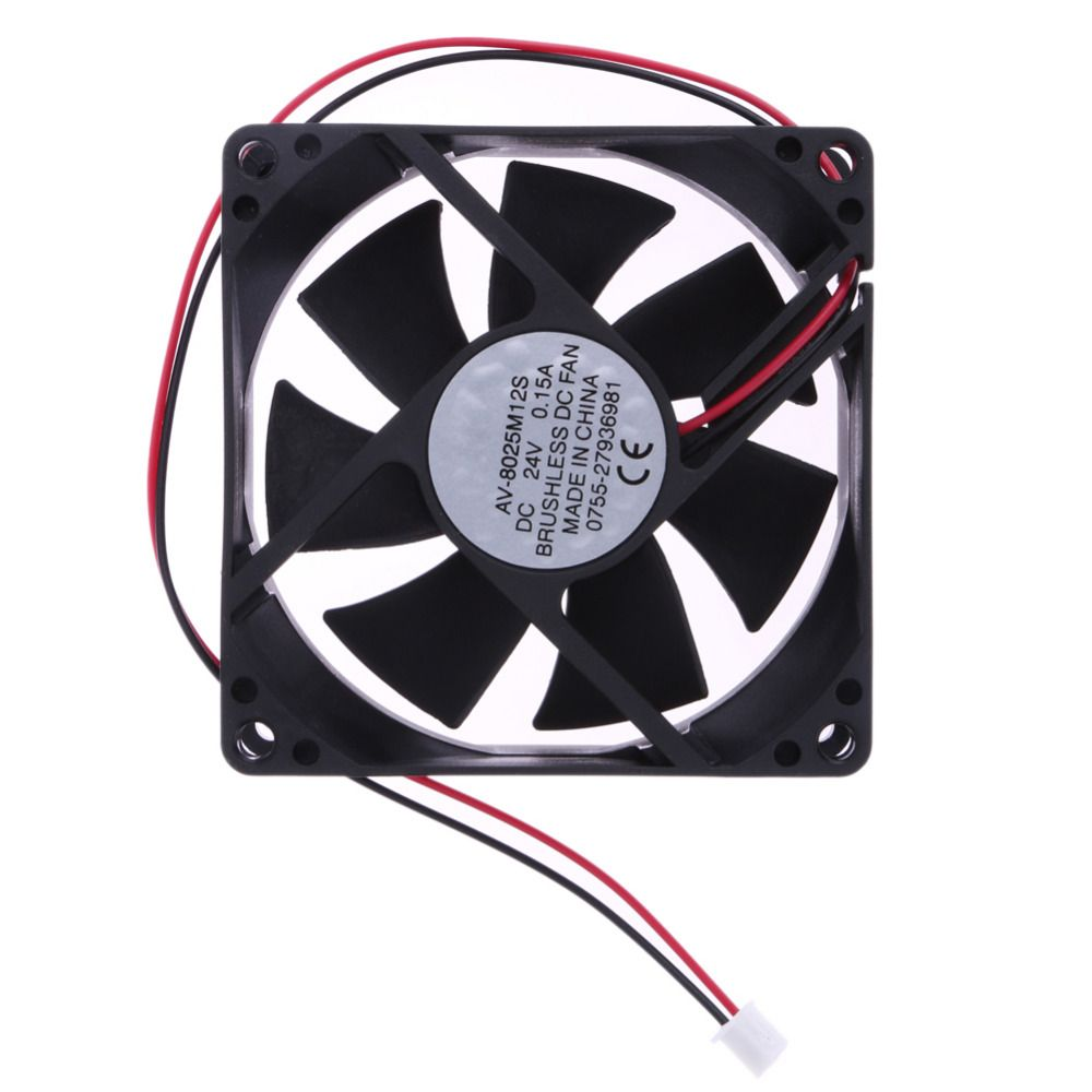 High Quality Pc Cooler Fan 24v Dc7 Blade 2 Wires Cooling Fan