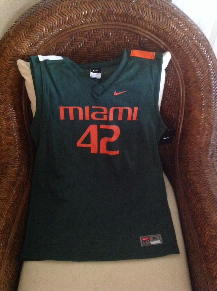 Miami hurricanes basketball 42 nike green replica jersey