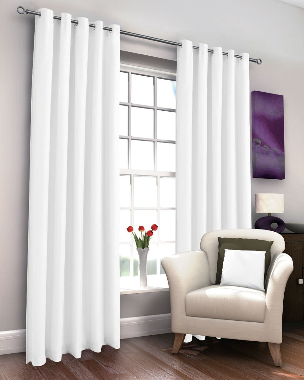 Marcela White Thermal Lined Eyelet Curtains Harry Corry Limited