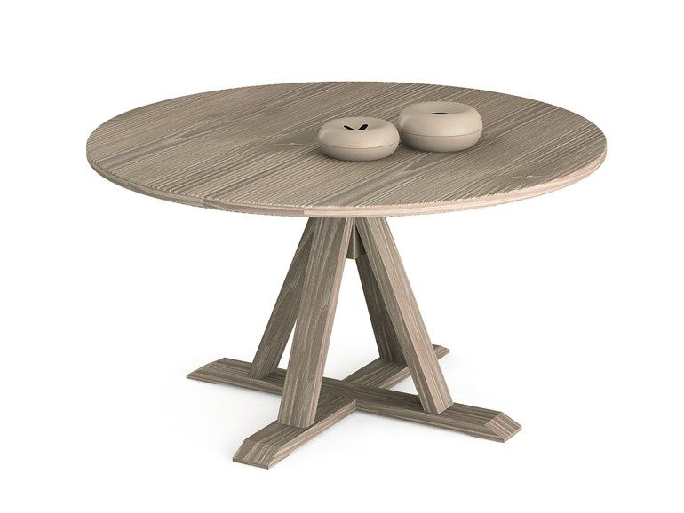 Tavolo Scandola ~ Mesa redonda de madera maestrale mesa redonda scandola mobili