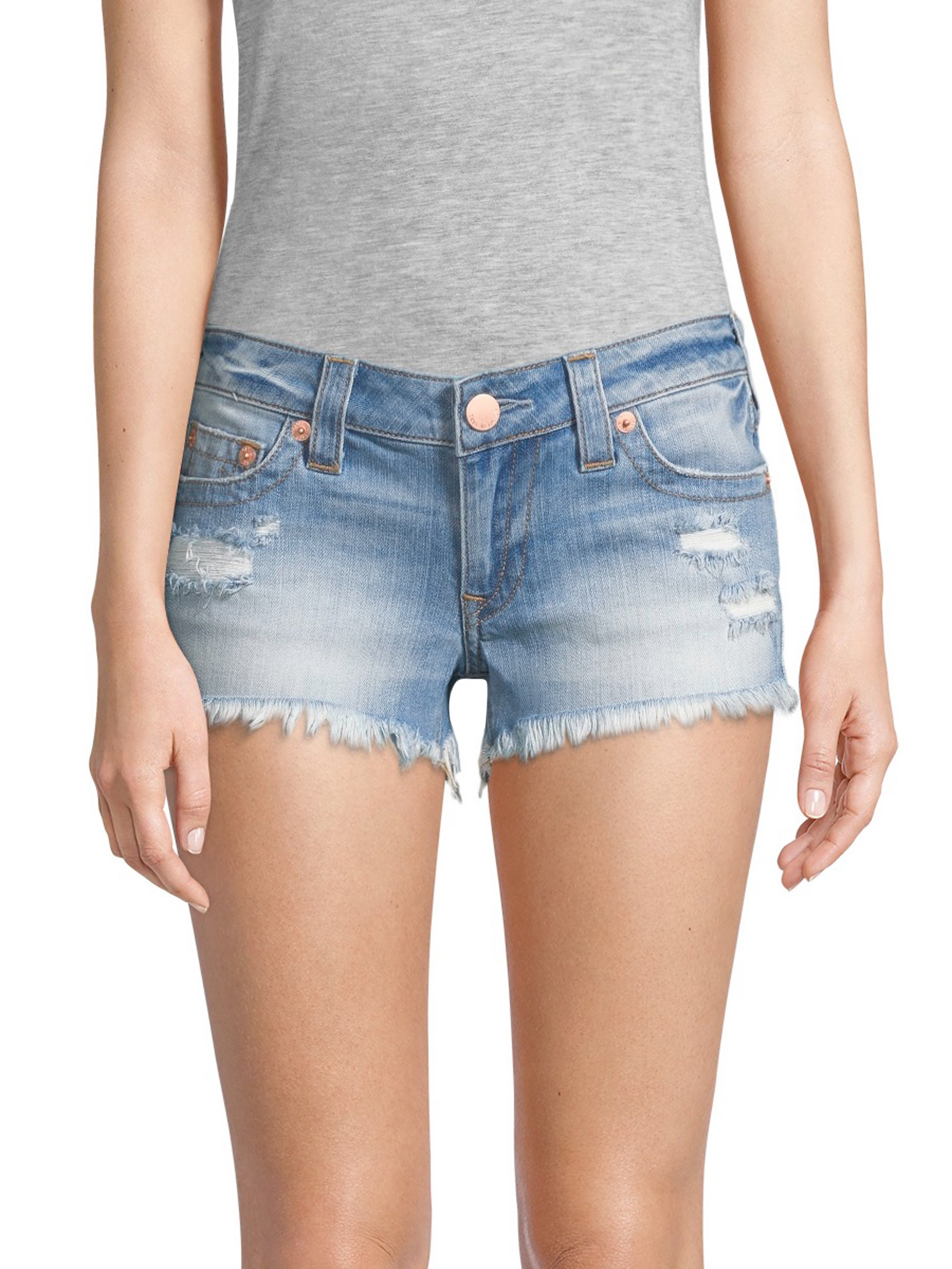 e0ad272fcd30 True Religion Joey Flap Cut-Off Denim Shorts - Eshl Third Quarter 25 ...