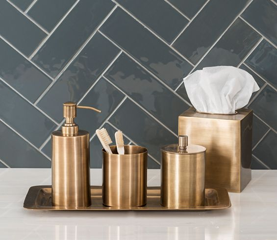 Bon Edison Brass Bathroom Accessories : Balineum