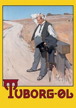 Erik Henningsen Tuborg Tuborgmanden Danish Culture Beer Poster Vintage Posters