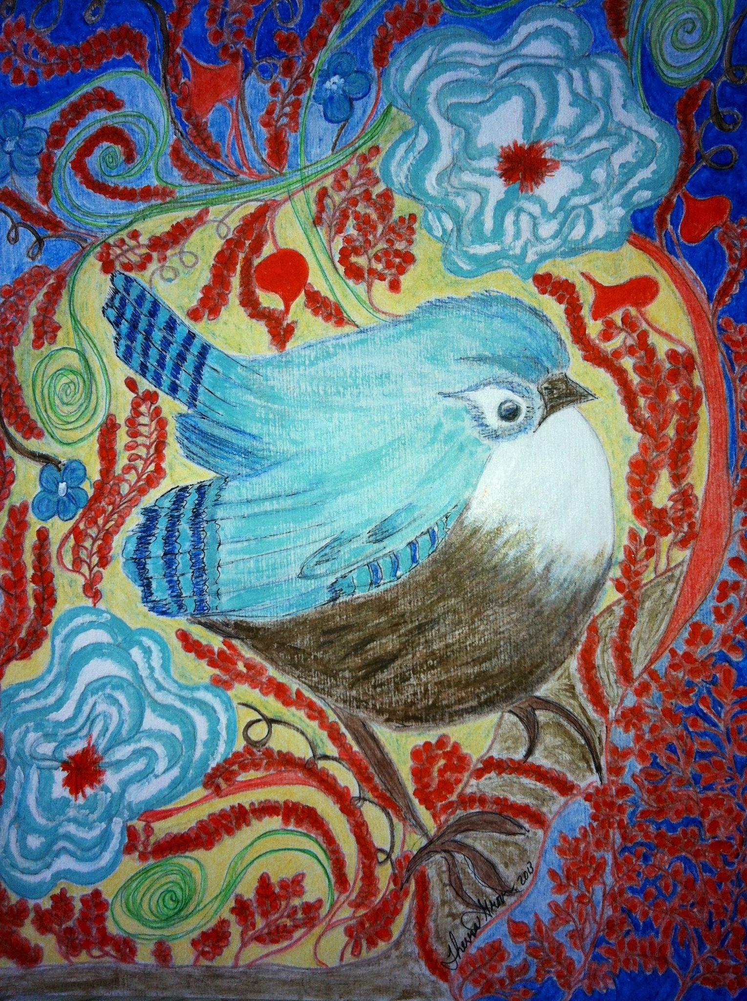 My chunky bird by Theresa Groom