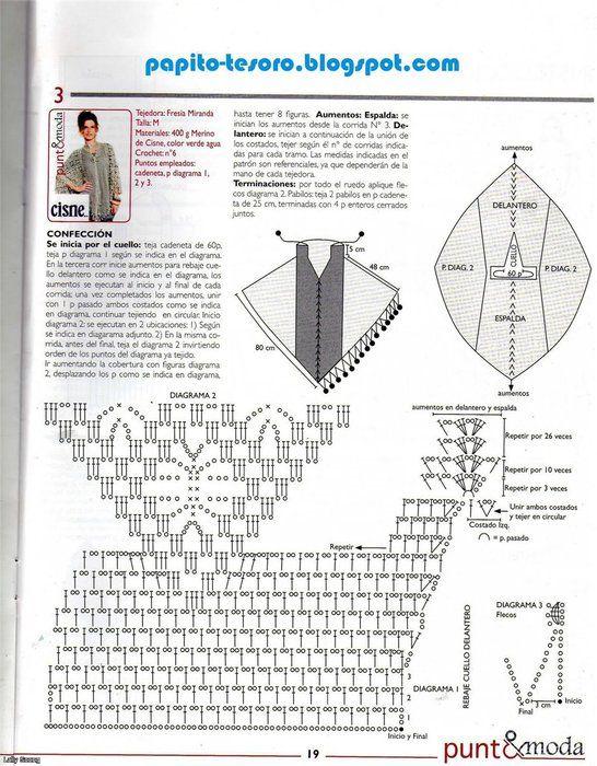 Pin de Mne Pleine en ponchos con diagramas