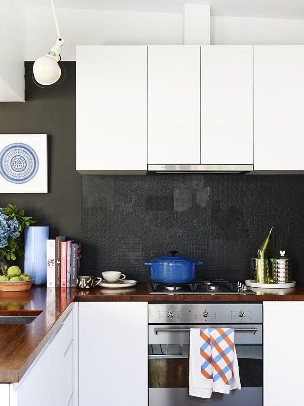 black kitchen tiles 40 Sensational Kitchen Splashbacks | Classic Black & White