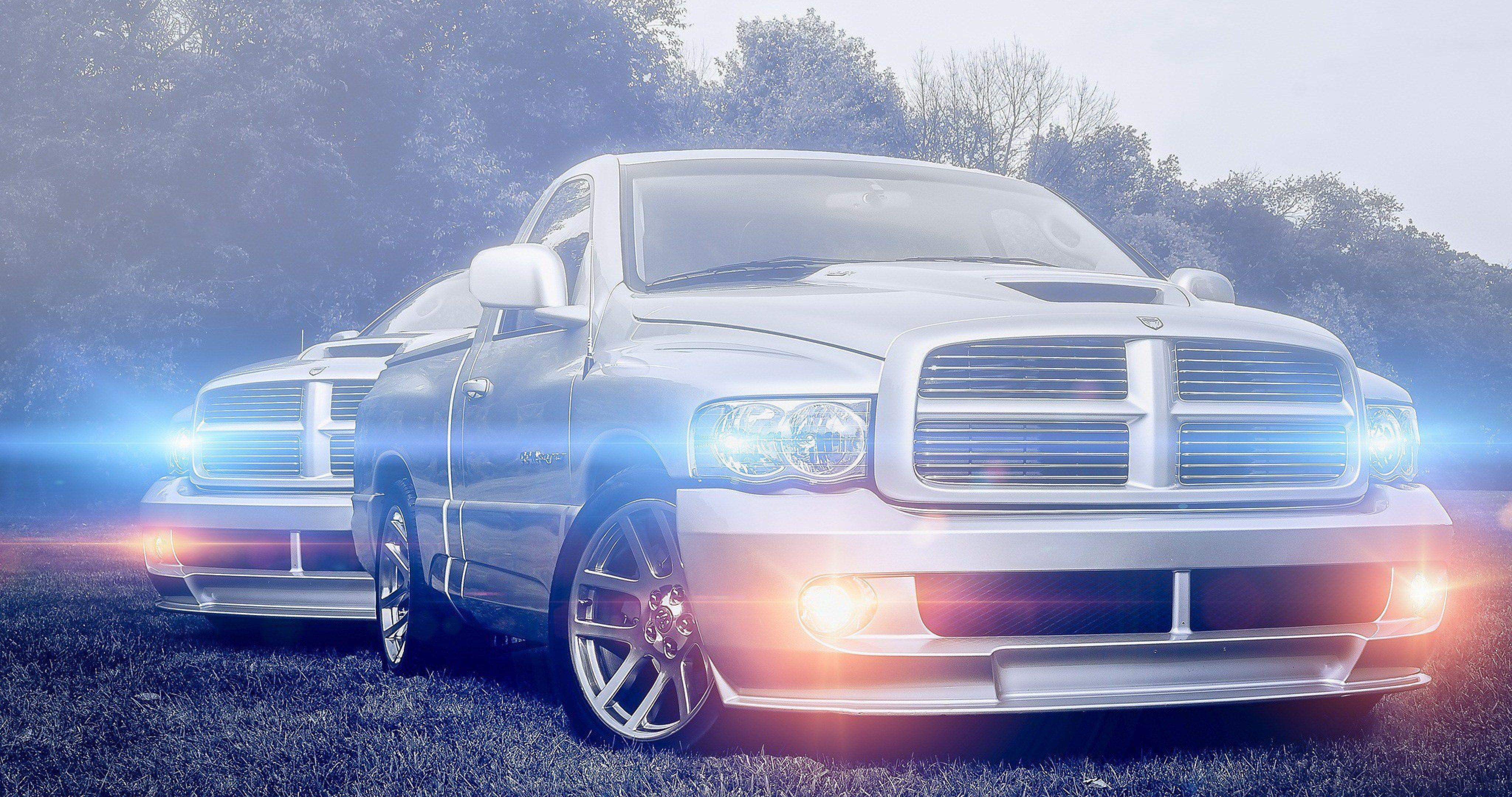 Dodge Ram Silvery 4k Ultra Hd Wallpaper