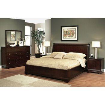 Vienna 5 piece queen bedroom set bedrooms sleigh beds - 5 piece queen sleigh bedroom set ...